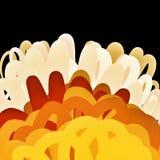 Желтая оранжевая горячая предпосылка Стоковые Фото