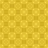 Желтая орнаментальная безшовная линия картина Стоковое Изображение RF