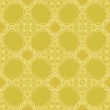 Желтая орнаментальная безшовная линия картина Стоковые Фотографии RF