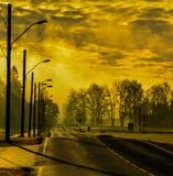 Желтая дорога Стоковые Фотографии RF