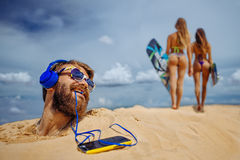 Желтая песчанная дюна Стоковые Изображения
