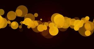 Желтая петля Bokeh сток-видео