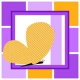Желтая поздравительная открытка бабочки Стоковое Изображение RF