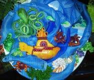 Желтая подводная лодка, handmade, стоковое фото