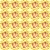 Желтая предпосылка в африканском стиле Стоковые Фото
