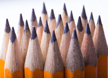 Желтая предпосылка карандаша Стоковые Изображения