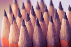 Желтая предпосылка карандаша Стоковая Фотография