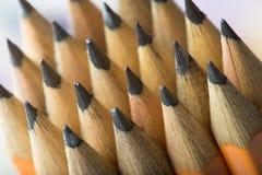 Желтая предпосылка карандаша Стоковое Изображение RF