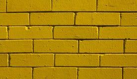 Желтая предпосылка кирпича, крупный план Стоковое Изображение RF