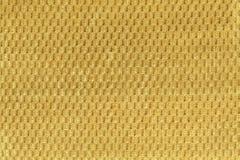 Желтая предпосылка от мягкого ворсистого конца ткани вверх Текстура макроса тканей Стоковое Изображение RF