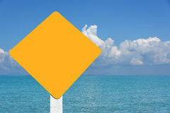 Желтая предпосылка seascape бирки Стоковые Фото