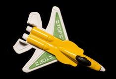 желтая плоская игрушка сумки партии Стоковое фото RF