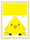 Желтая рамка цыпленка иллюстрация вектора