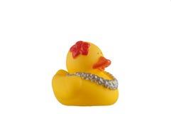 Желтая резиновая утка Стоковая Фотография RF