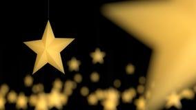 Желтая смертная казнь через повешение звезды среди много Стоковые Изображения