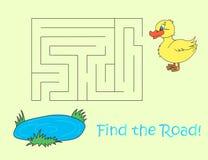 Желтая смешная головоломка утки Стоковые Фотографии RF