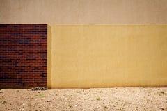 Желтая стена гипсолита Стоковое Фото