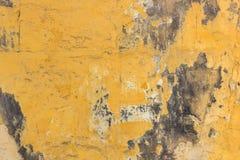 Желтая стена с предпосылкой прессформы Стоковые Фотографии RF