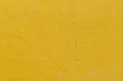 желтая стена цемента grunge Стоковое Фото