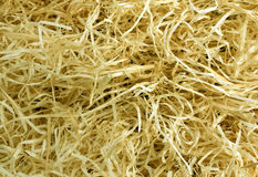 Желтая текстура деревянных shavings Стоковые Изображения RF
