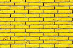 Желтая текстура кирпичной стены Стоковое фото RF