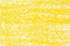 Желтая текстура предпосылки чертежей crayon Стоковые Фотографии RF
