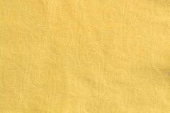 Желтая текстура ткани Стоковая Фотография