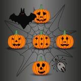 Желтая тыква хеллоуин иллюстрация штока