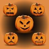 Желтая тыква хеллоуин Стоковая Фотография
