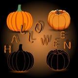Желтая тыква хеллоуин Стоковые Изображения RF