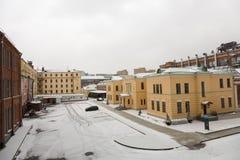 Желтая усадьба города Стоковые Фото