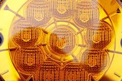 Желтая фара автомобиля Стоковое Фото