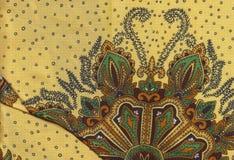 Желтая флористическая ткань Стоковое Изображение