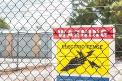 Желтая электрическая загородка Стоковые Фотографии RF