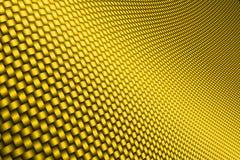 Желтое волокно углерода кривой Стоковые Изображения