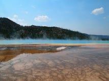 Желтое каменное озеро Стоковая Фотография RF