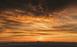 Желтое небо Калифорнии Стоковое Изображение RF