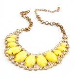 Желтое ожерелье Стоковые Фотографии RF
