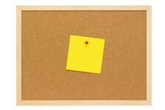Желтое примечание Стоковое фото RF