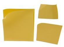 Желтое пустое липкое примечание Стоковое Изображение RF