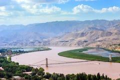 Желтое река Стоковая Фотография