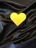 Желтое сердце Стоковые Фото