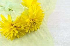 Желтое украшение цветка Стоковое Изображение