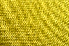 Желтое фото крупного плана текстуры ткани Стоковая Фотография RF