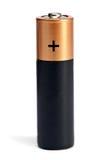 Желтое черное batereyka размера AA на белой предпосылке Стоковые Фотографии RF
