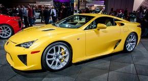 Желтое Lexus LFA стоковое изображение