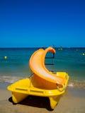 Желтое pedalo, Ibiza Стоковое Фото