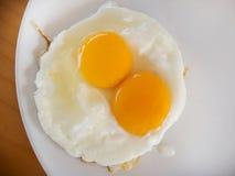 Желток яичниц сырцовый стоковые изображения