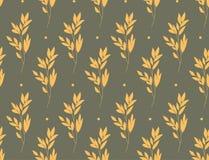 Желтые ветви на сером цвете Стоковое Изображение RF