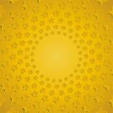 Желтые звезды в круге с тенью 10 eps Стоковое фото RF